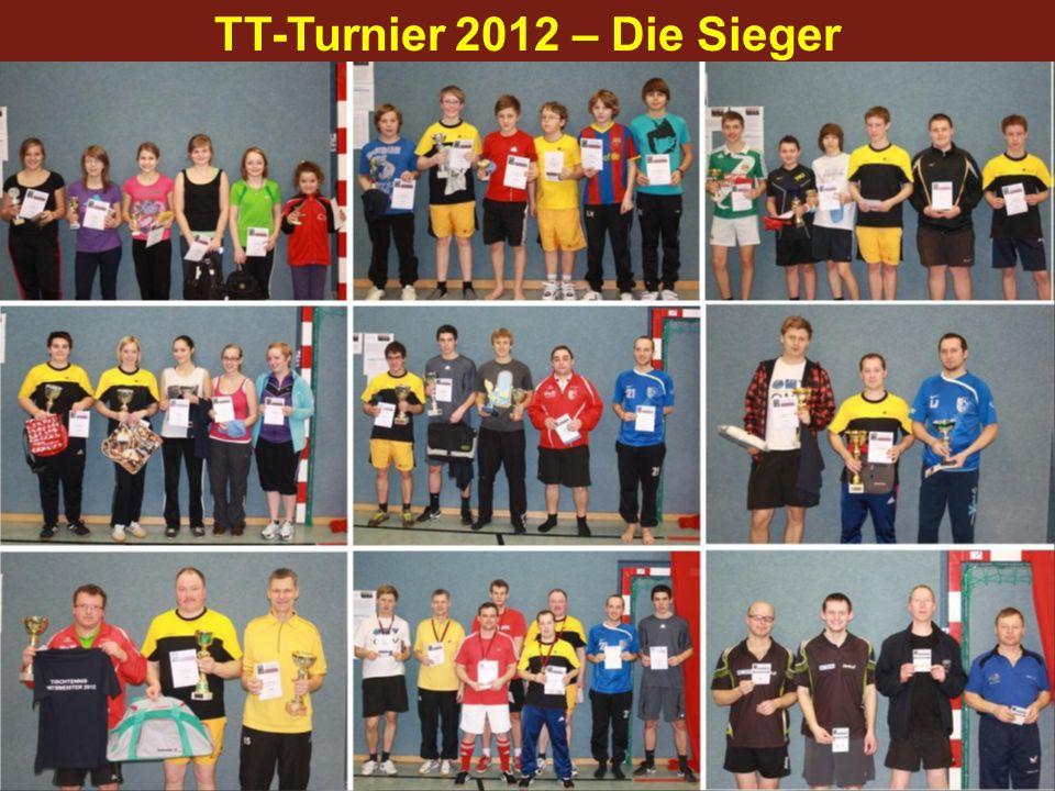 TT-Turnier 2012 – Die Sieger