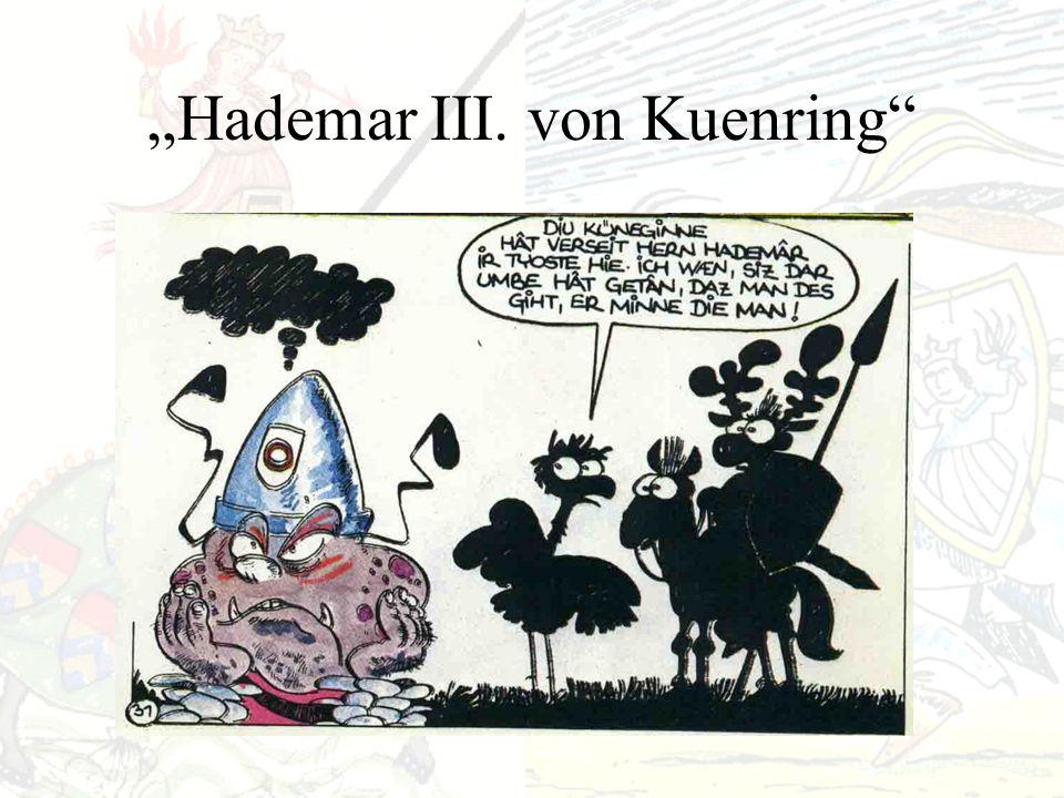 Hademar III. von Kuenring Gerücht der Homosexualität Hintergrund: Aufstand gegen Herzog Friedrich II.