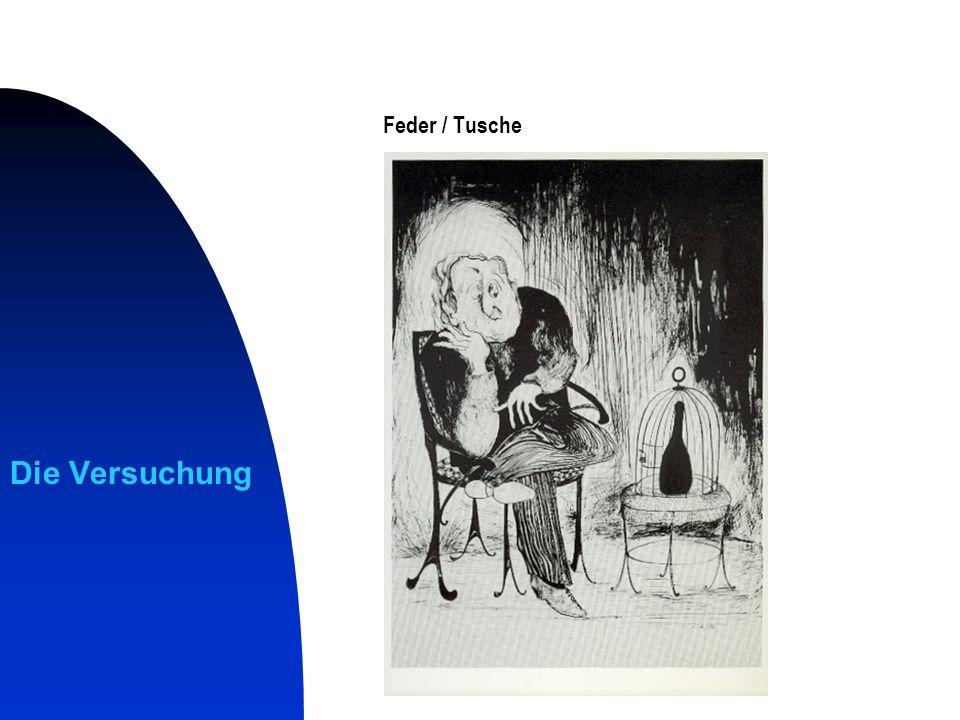 Weiße Fläche Feder / Tusche