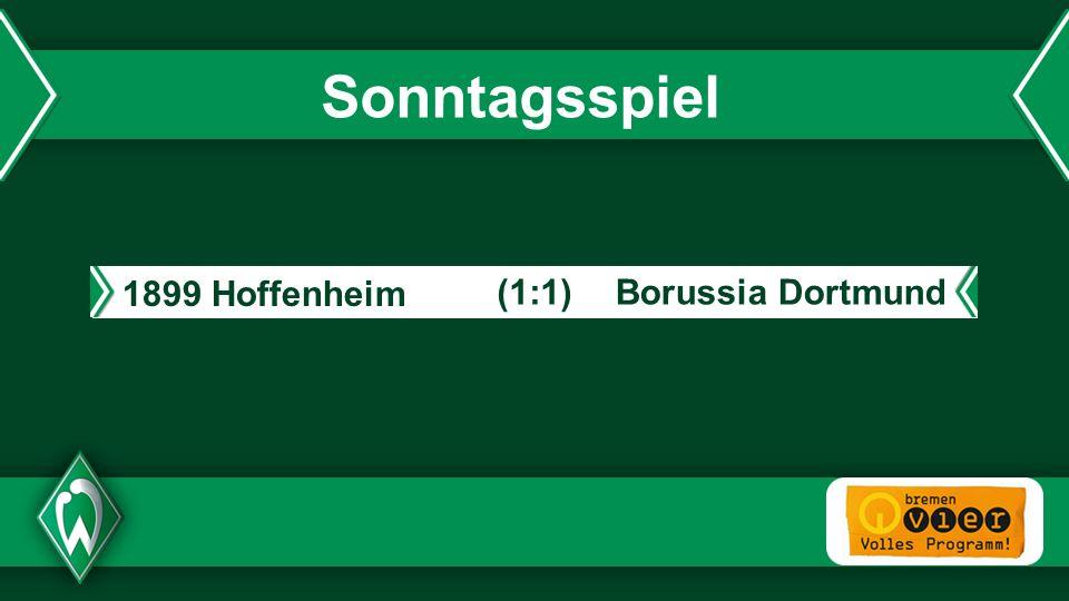 - Sonntagsspiel 1899 Hoffenheim Borussia Dortmund(1:1)