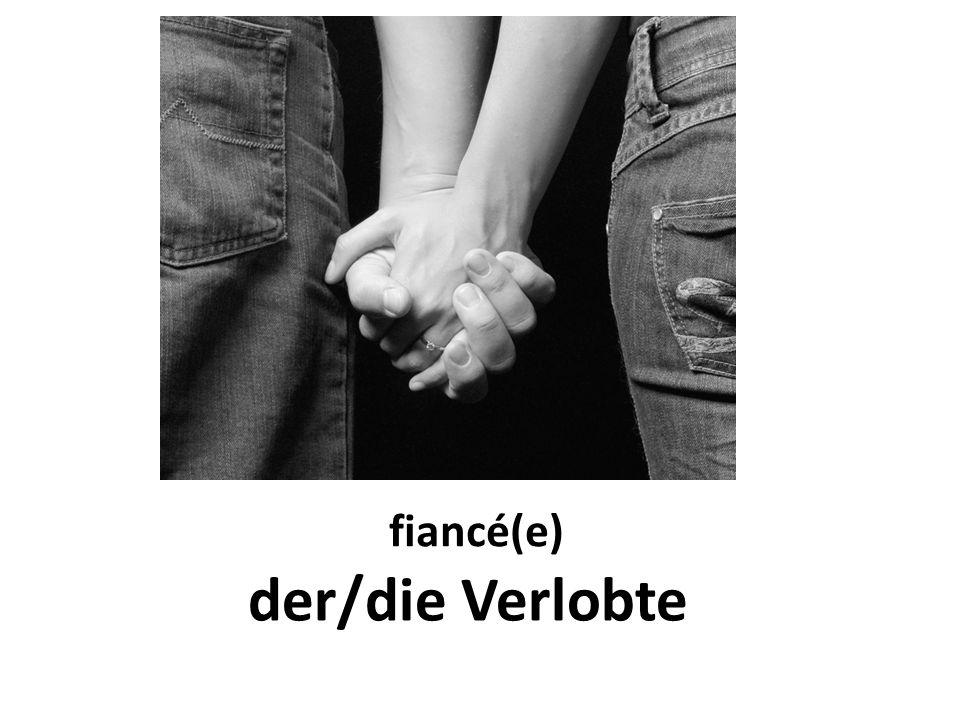 fiancé(e) der/die Verlobte