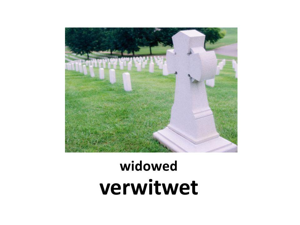 widowed verwitwet