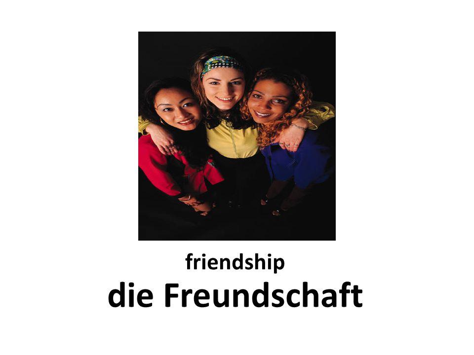 friendship die Freundschaft