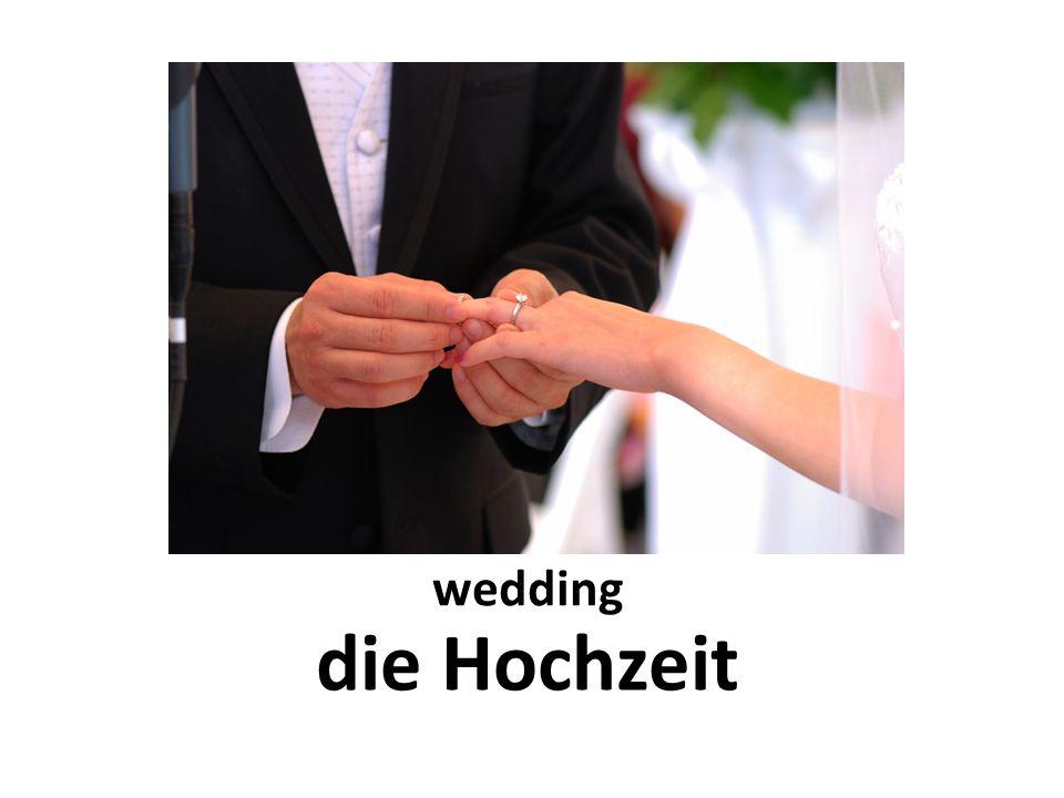 wedding die Hochzeit