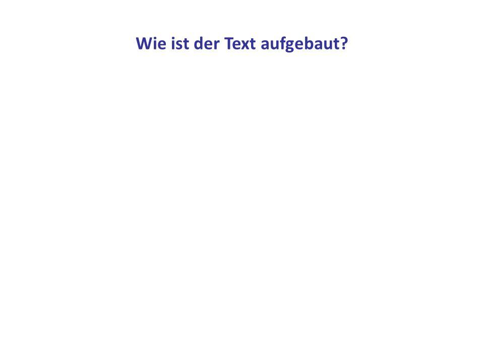 Wie ist der Text aufgebaut?