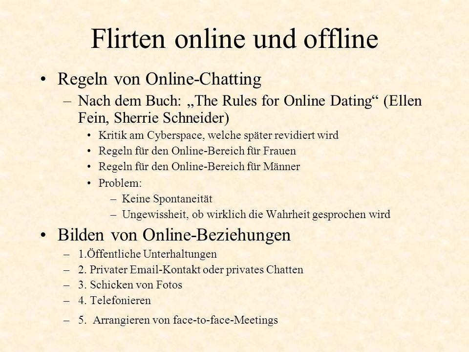 Flirten online und offline Regeln von Online-Chatting –Nach dem Buch: The Rules for Online Dating (Ellen Fein, Sherrie Schneider) Kritik am Cyberspace