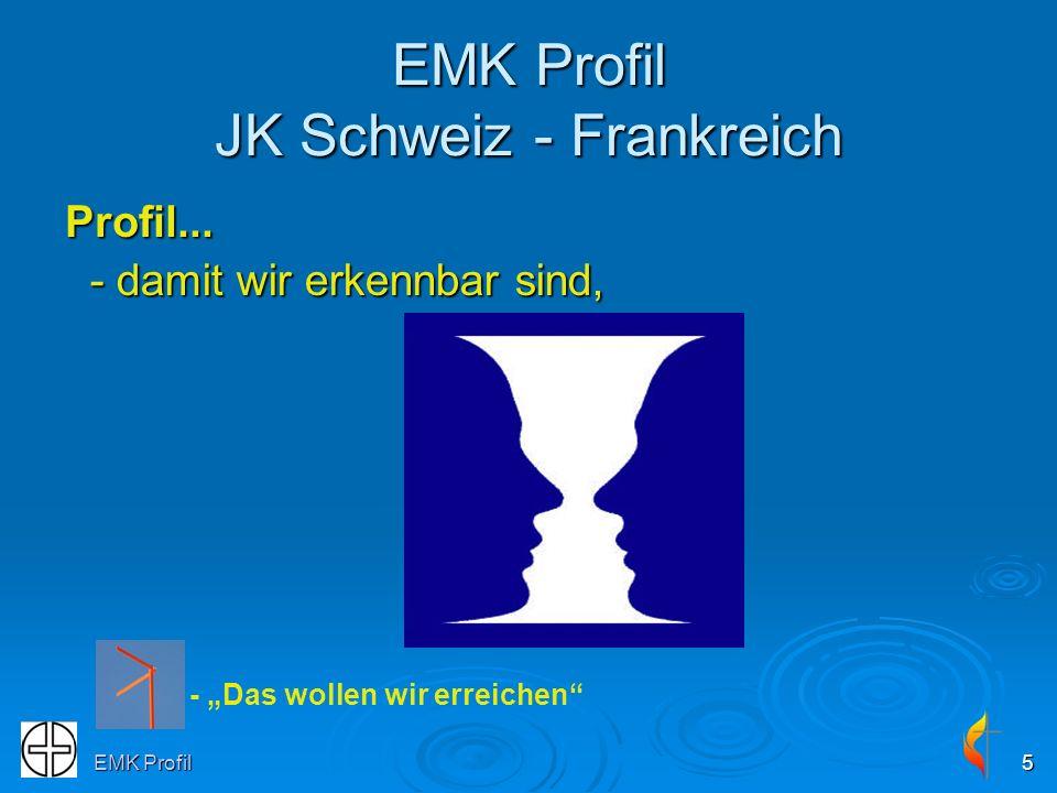 EMK Profil5 EMK Profil JK Schweiz - Frankreich Profil... - damit wir erkennbar sind, - Das wollen wir erreichen