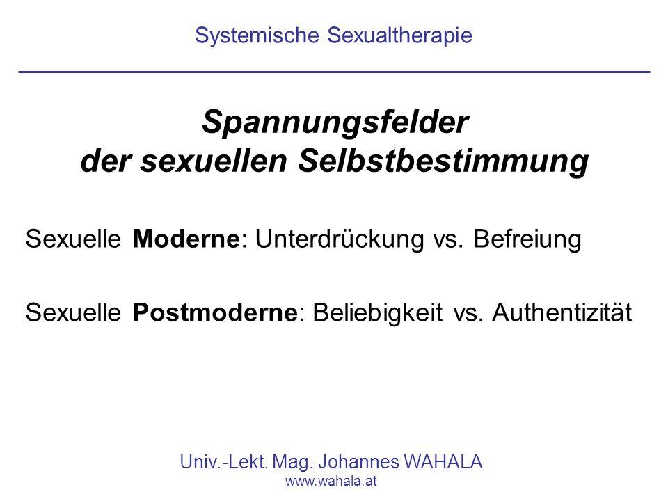 Systemische Sexualtherapie Univ.-Lekt.Mag.