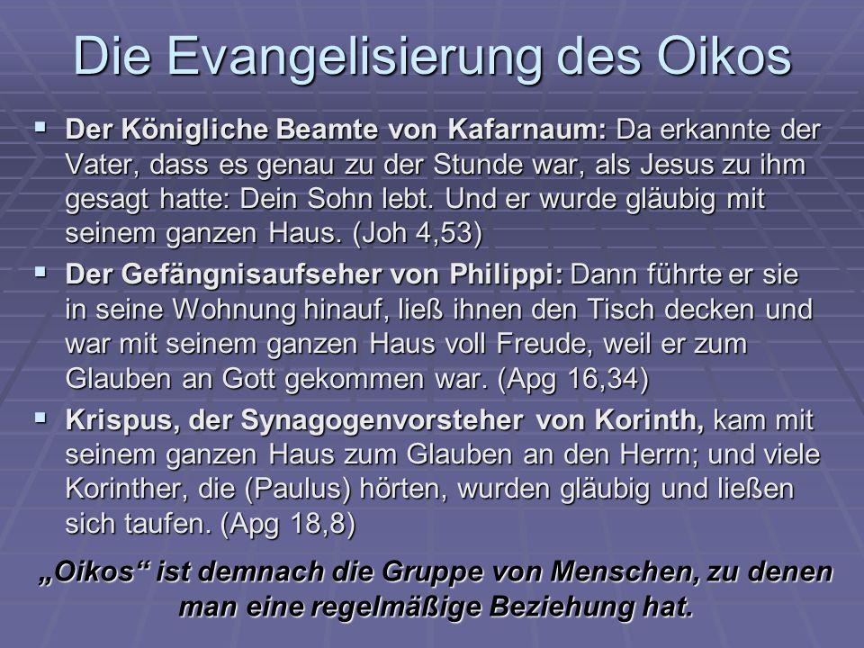 Die Evangelisierung des Oikos Der Königliche Beamte von Kafarnaum: Da erkannte der Vater, dass es genau zu der Stunde war, als Jesus zu ihm gesagt hat