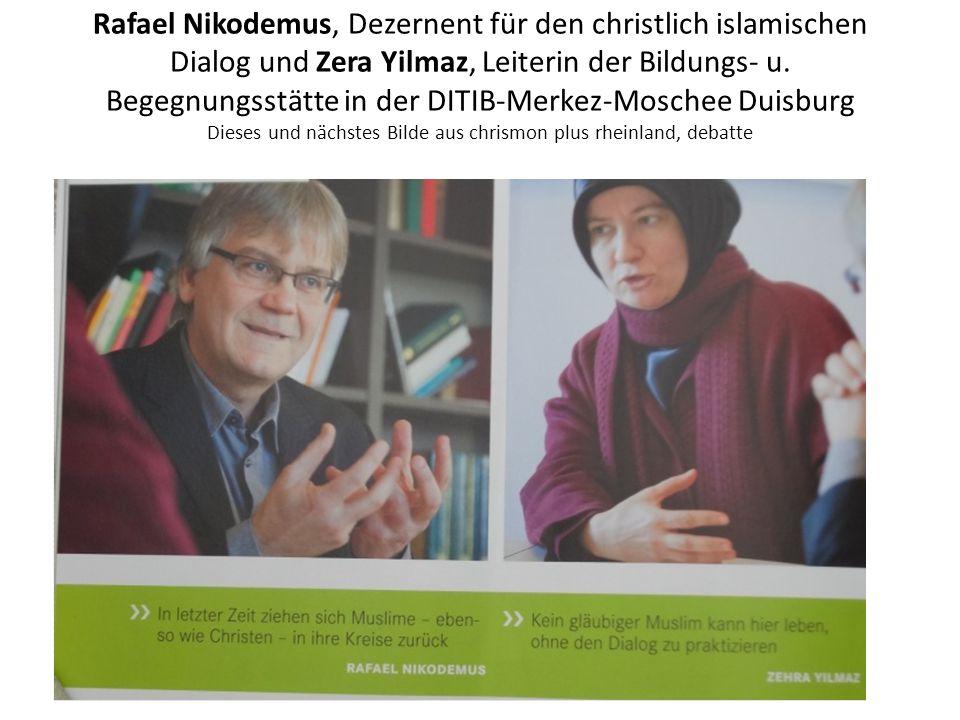 Rafael Nikodemus, Dezernent für den christlich islamischen Dialog und Zera Yilmaz, Leiterin der Bildungs- u. Begegnungsstätte in der DITIB-Merkez-Mosc