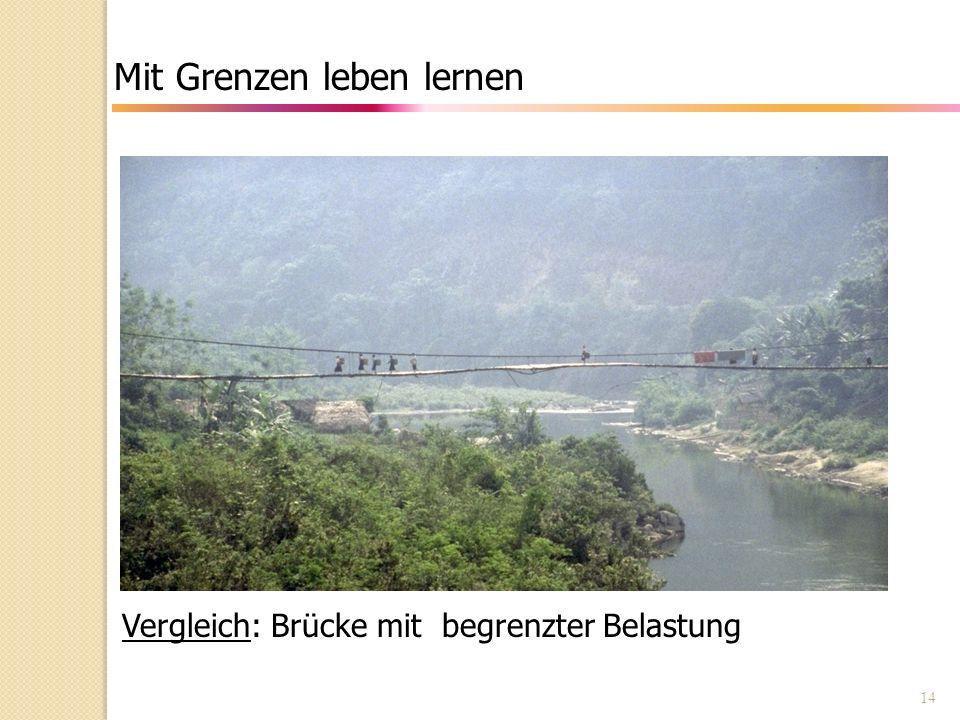 14 Mit Grenzen leben lernen Vergleich: Brücke mit begrenzter Belastung