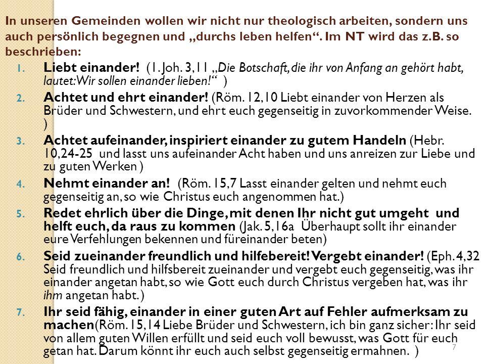 Gemeinschaft Dreifachgebot der Liebe (Lukas 10,25-31) Ein Gesetzeslehrer wollte Jesus auf die Probe stellen.