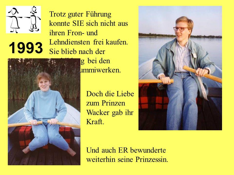 1992 Prinz Wacker ging in die Frondienste der ehrwürdigen Bundestagsabge ordneten Blunk.