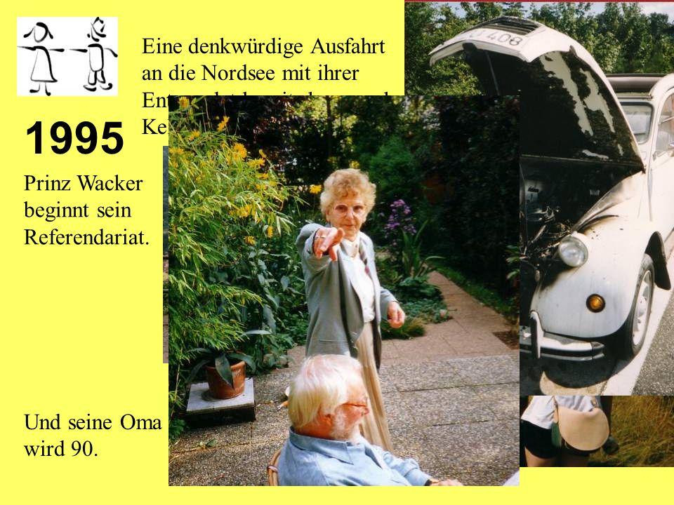 1994 Prinzessin Tausendschön wird mobil: Sie kauft sich eine motorisierte Ente.