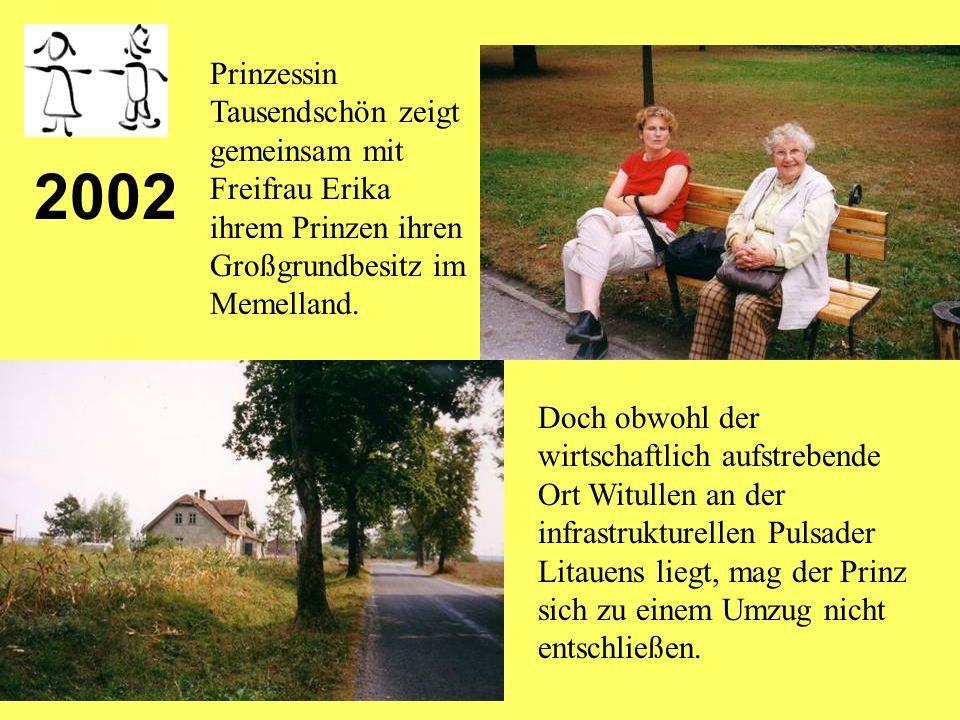 2001 Erster Nachwuchs stellt sich im Schloß Wacker zu Tausendschön ein.