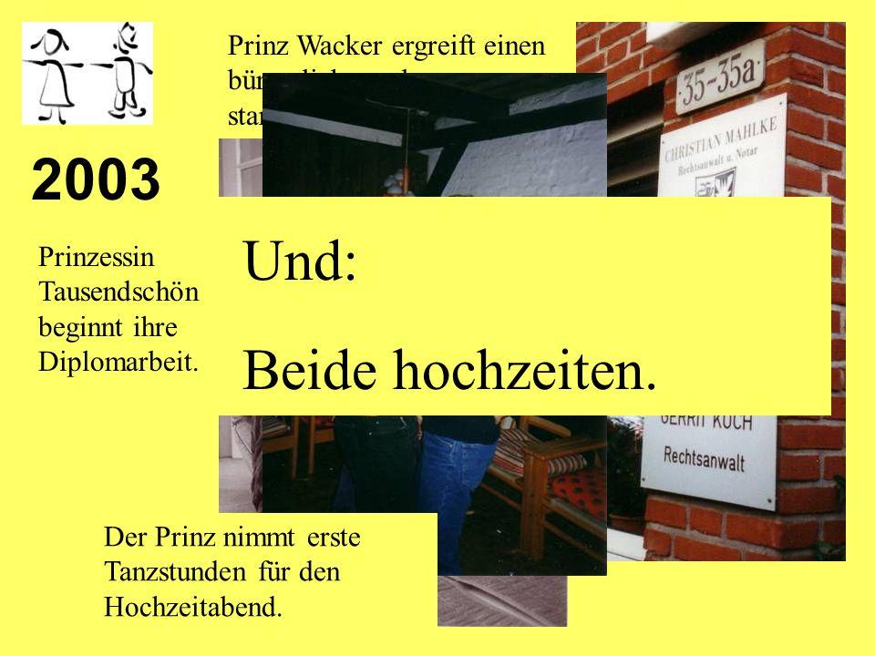 2002 Prinzessin Tausendschön zeigt gemeinsam mit Freifrau Erika ihrem Prinzen ihren Großgrundbesitz im Memelland.