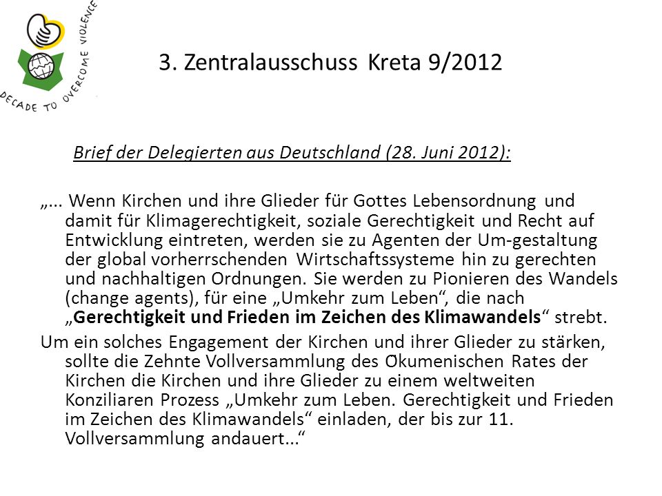 3.Zentralausschuss Kreta 9/2012 Brief der Delegierten aus Deutschland (28.