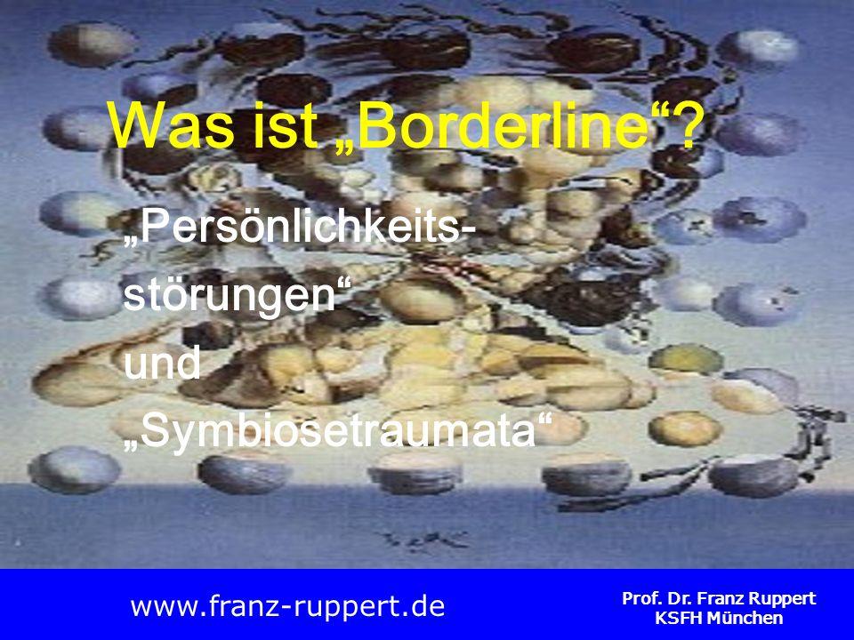 Prof. Dr. Franz Ruppert KSFH München Was ist Borderline? Persönlichkeits- störungen und Symbiosetraumata www.franz-ruppert.de