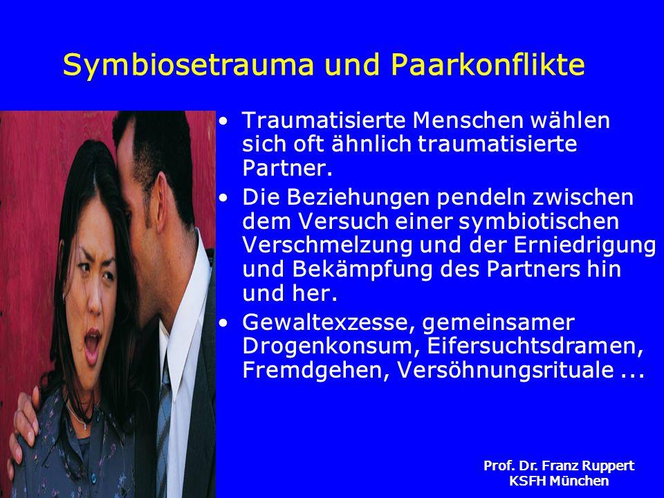 Prof. Dr. Franz Ruppert KSFH München Symbiosetrauma und Paarkonflikte Traumatisierte Menschen wählen sich oft ähnlich traumatisierte Partner. Die Bezi