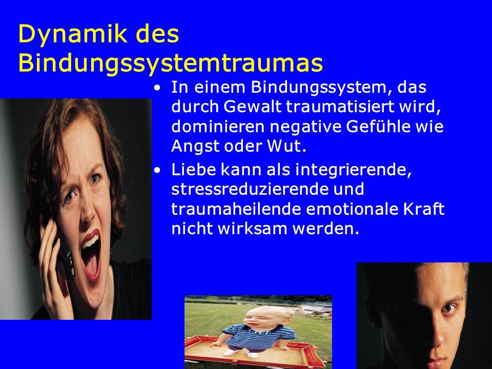Prof. Dr. Franz Ruppert KSFH München Dynamik des Bindungssystemtraumas In einem Bindungssystem, das durch Gewalt traumatisiert wird, dominieren negati
