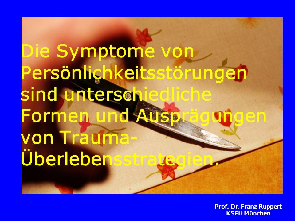 Prof. Dr. Franz Ruppert KSFH München Die Symptome von Persönlichkeitsstörungen sind unterschiedliche Formen und Ausprägungen von Trauma- Überlebensstr