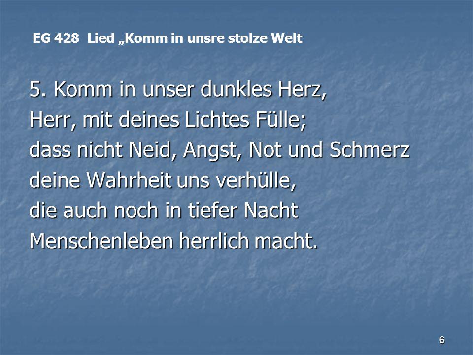 17 Lesung 2.Petrus 1, 2-7 Revolte Rose Ausländer (1901-1988) Lesung 2.