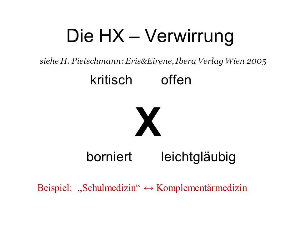 Die HX – Verwirrung siehe H.