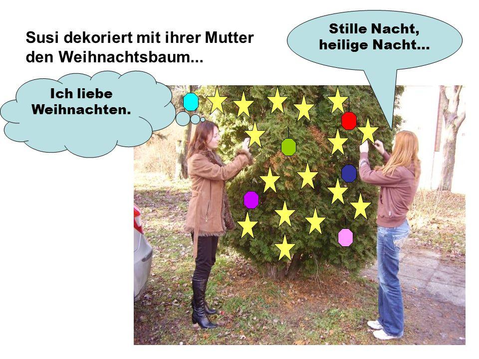 Susi dekoriert mit ihrer Mutter den Weihnachtsbaum... Stille Nacht, heilige Nacht... Ich liebe Weihnachten.