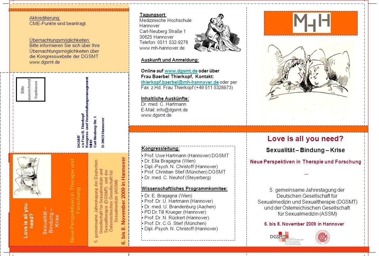 5. gemeinsame Jahrestagung der Deutschen Gesellschaft für Sexualmedizin und Sexualtherapie (DGSMT) und der Österreichischen Gesellschaft für Sexualmed