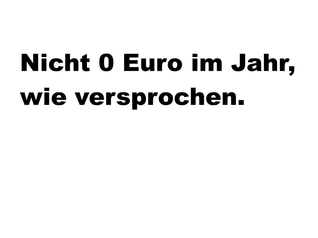 Nicht 0 Euro im Jahr, wie versprochen.