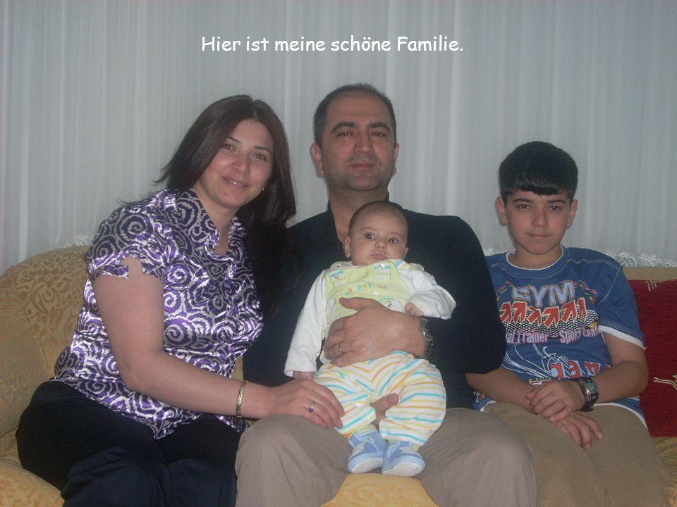 Hier ist meine schöne Familie.