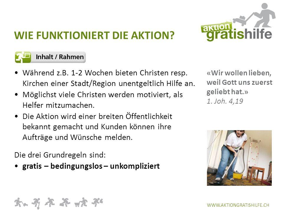 WWW.AKTIONGRATISHILFE.CH Während z.B. 1-2 Wochen bieten Christen resp.