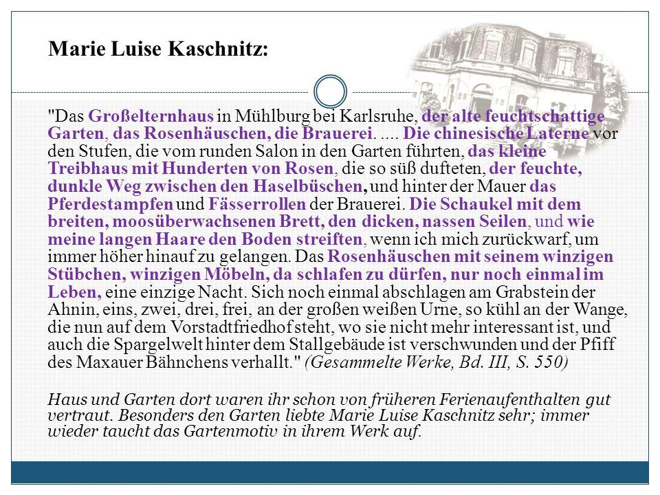 Das Großelternhaus in Mühlburg bei Karlsruhe, der alte feuchtschattige Garten, das Rosenhäuschen, die Brauerei.....