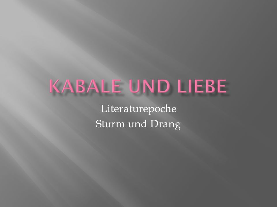 Literaturepoche Sturm und Drang