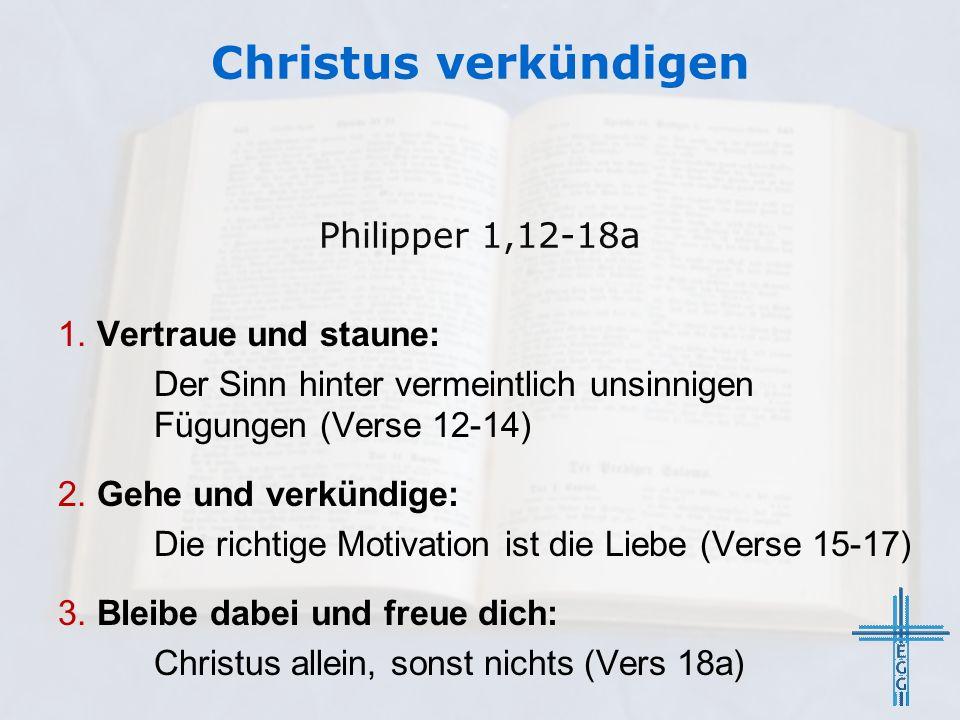 Christus verkündigen 1.