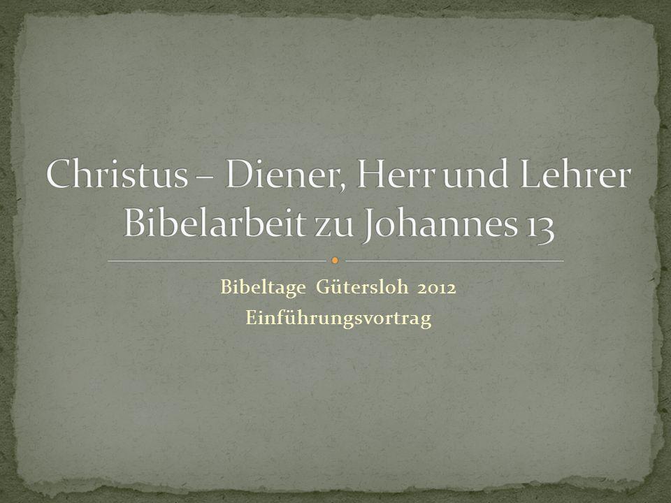 Bibeltage Gütersloh 2012 Einführungsvortrag