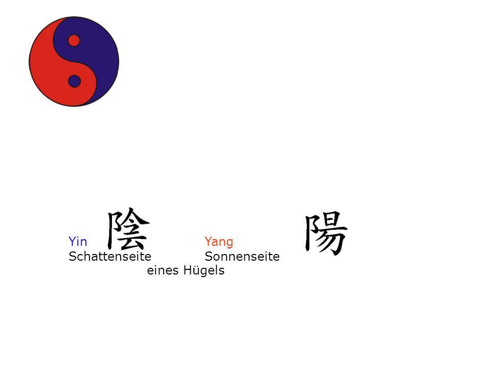 Yin Yang Schattenseite Sonnenseite eines Hügels