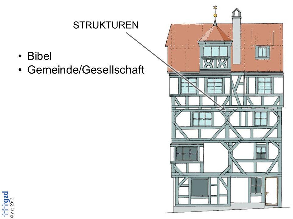 © gzd 2013 STRUKTUREN Bibel Gemeinde/Gesellschaft