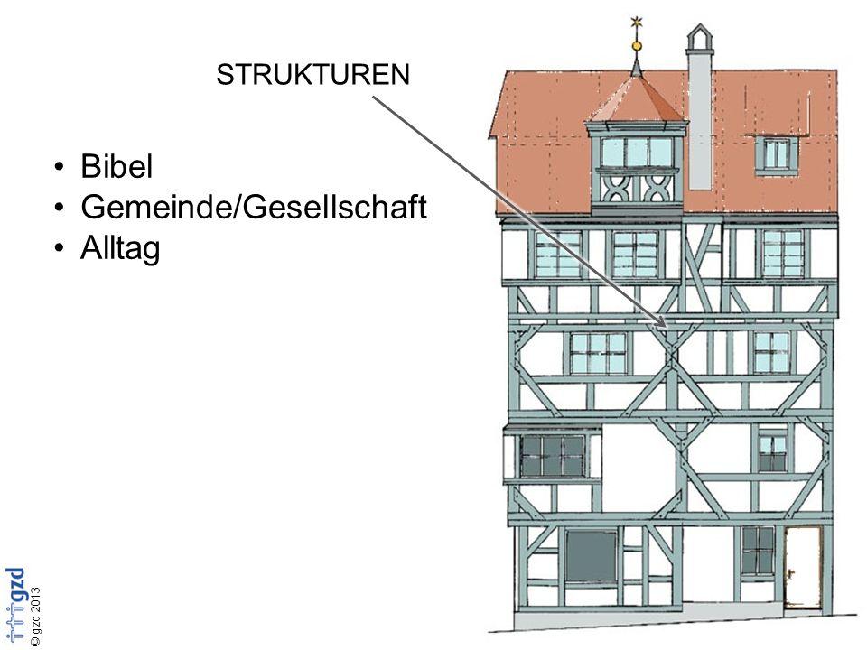 © gzd 2013 STRUKTUREN Bibel Gemeinde/Gesellschaft Alltag
