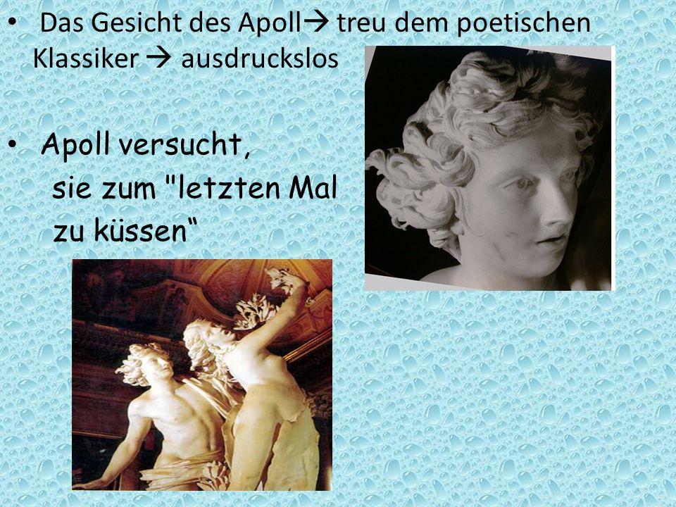 Das Gesicht des Apoll treu dem poetischen Klassiker ausdruckslos Apoll versucht, sie zum