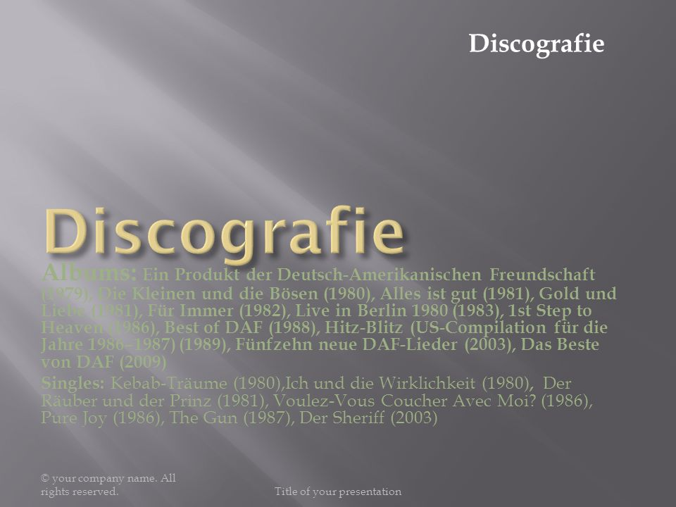 Bekanntes Lied © your company name.