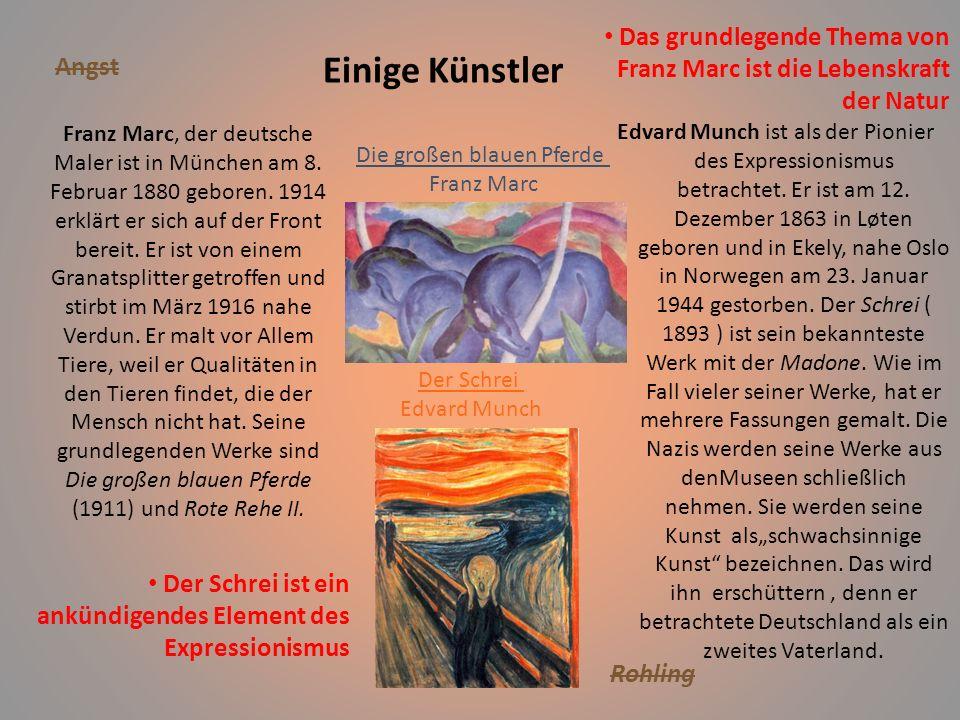Aspekte der damaligen Gesellschaft Im Jahre 1937organisieren die Nazis eine Ausstellungsition.Die Organisatoren erklären den Besuchern,daß diese Bilde