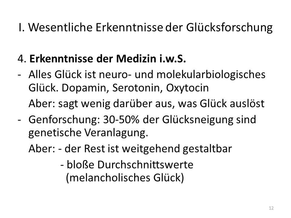 I.Wesentliche Erkenntnisse der Glücksforschung 4.
