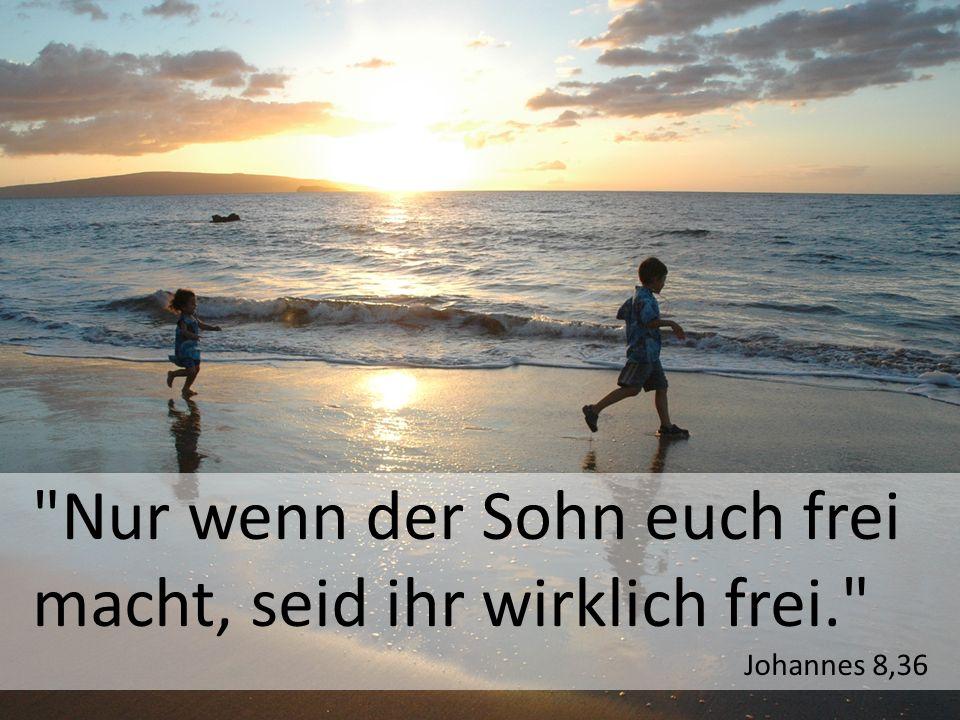 Nur wenn der Sohn euch frei macht, seid ihr wirklich frei. Johannes 8,36