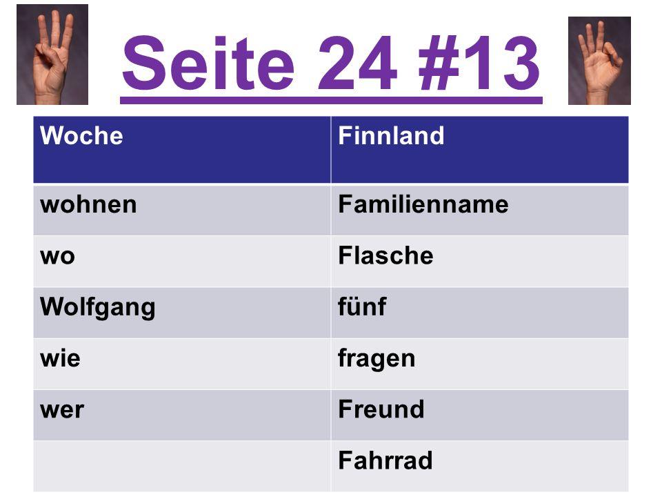 Seite 24 #13 WocheFinnland wohnenFamilienname woFlasche Wolfgangfünf wiefragen werFreund Fahrrad