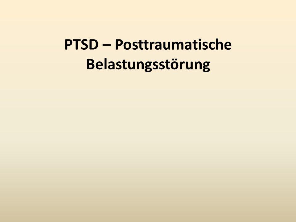 PTSD – Posttraumatische Belastungsstörung