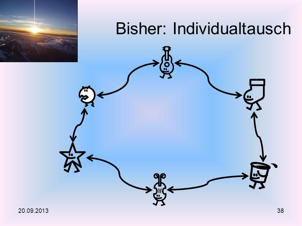 Bisher: Individualtausch 20.09.201338