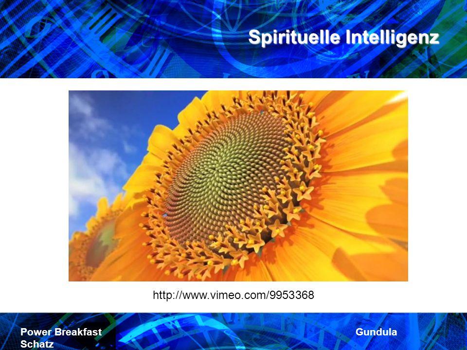 Spirituelle Intelligenz Power Breakfast Gundula Schatz http://www.vimeo.com/9953368