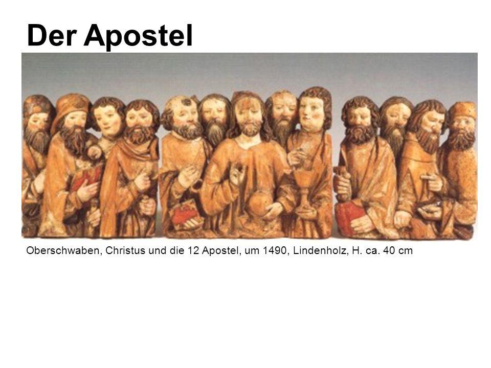 Der Apostel Oberschwaben, Christus und die 12 Apostel, um 1490, Lindenholz, H. ca. 40 cm