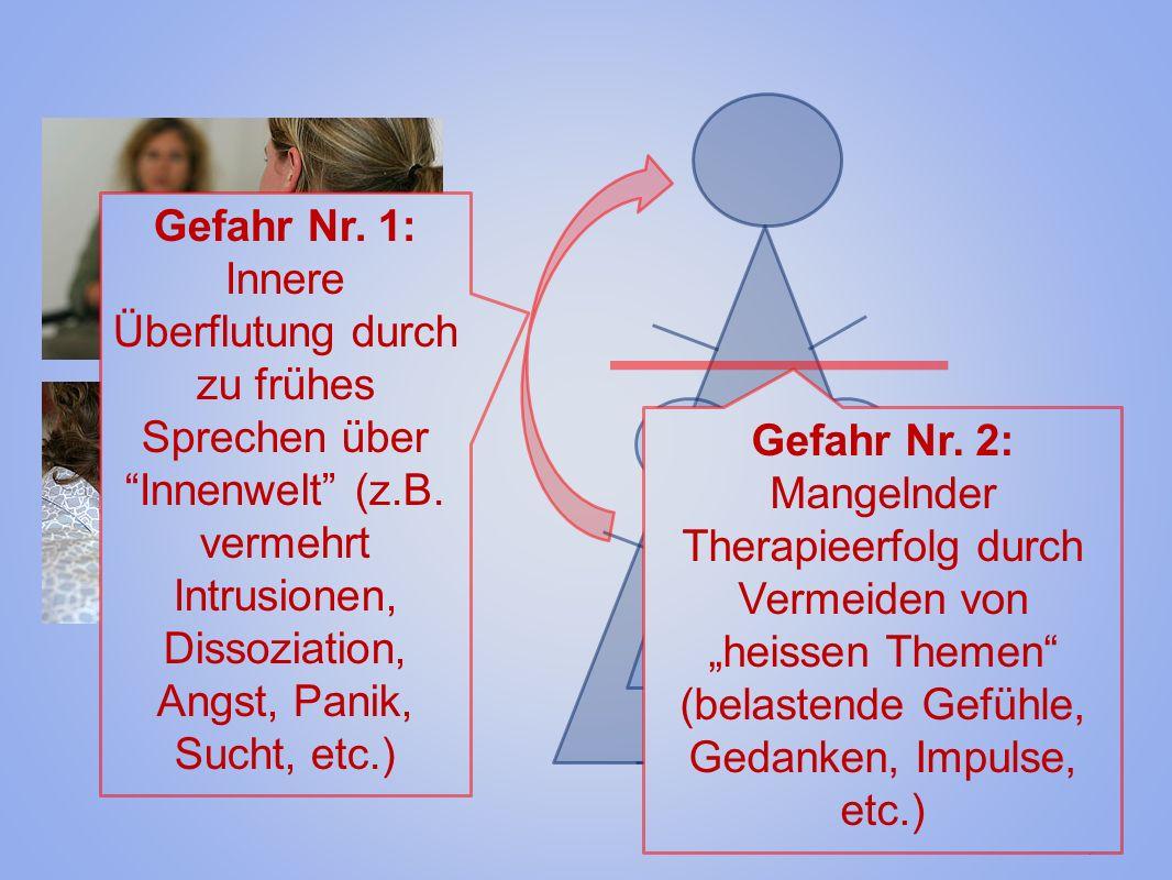 © Jan Gysi Fotos: www.klinik-sgm.ch KämpferOpfer Gefahr Nr. 1: Innere Überflutung durch zu frühes Sprechen über Innenwelt (z.B. vermehrt Intrusionen,